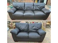 Chocolate brown 2 - 3 seater sofas good condition can deliver