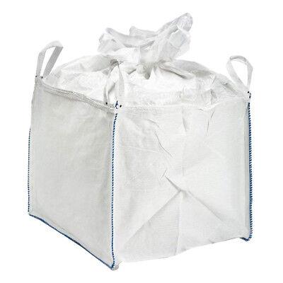 4400lbs FIBC Bulk Bag Super Sack 3.0x3.0x3.6' w/ Duffle Top & 4 Loops