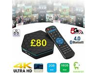 T95Z OCTACORE 16 GB ANDROID TV BOXES WITH WORKING TV GUIDE INSTALLED