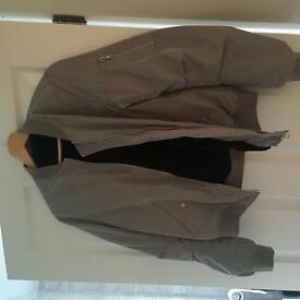 Ladies size 10 grey thick warm bomer jacket