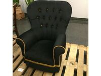Black Armchair Retro