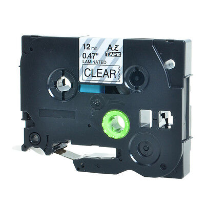 1pk Black On Clear Label Tape Tz131 Tze131 For Brother P-touch Pt-1900 12inch