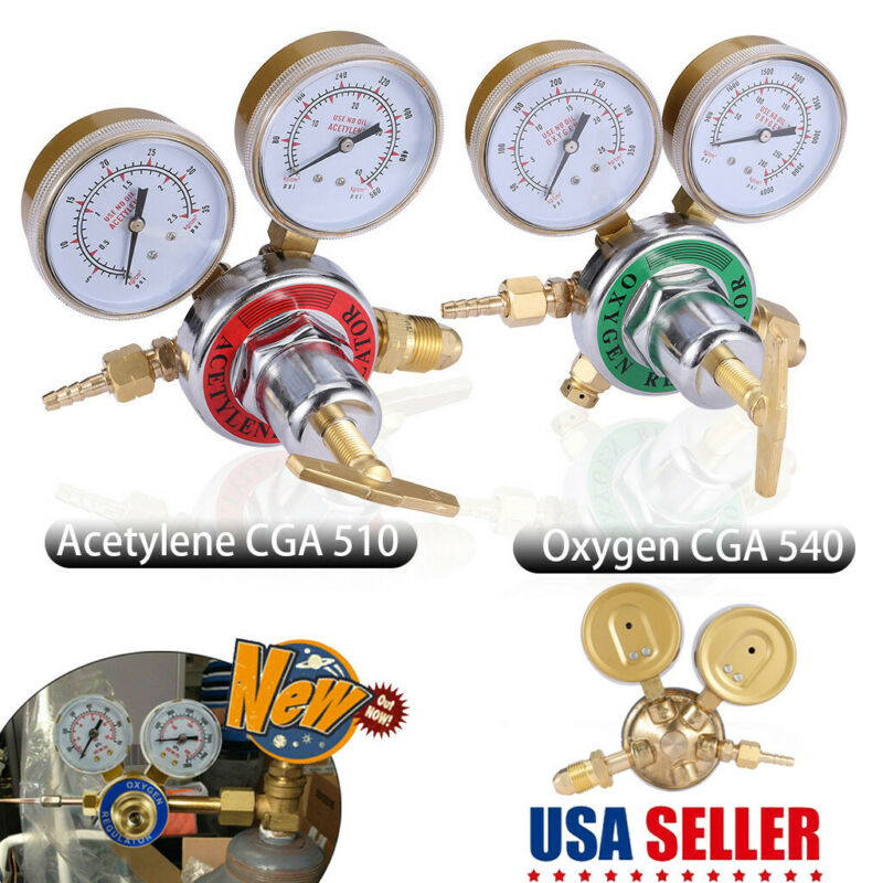 【US SHIP】Welding Gas Welder Acetylene Regulator Torch CGA 510