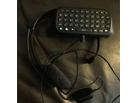 Official Xbox 360 Chatpad With Headphones