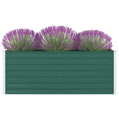 vidaXL Jardinera Elevada de Acero Galvanizado Verde 160x80x45cm Macetero Patio