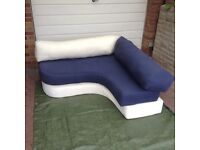 Corner foam sofa bed