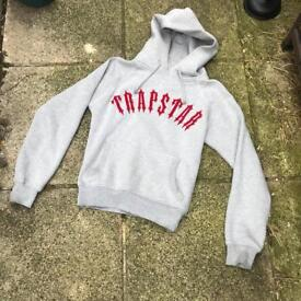 Trapstar grey/red hoodie size small