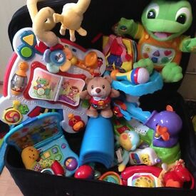 Baby toy bundle, v-tec, leaofrog, fisher price