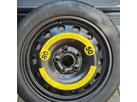 Spare wheel for vw golf plus