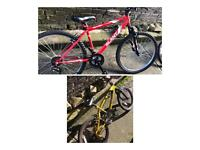 Mountain bike and a bmx bike for sale