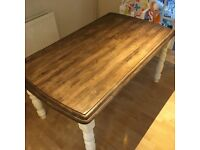 Soild wood pine shabby chic dining table