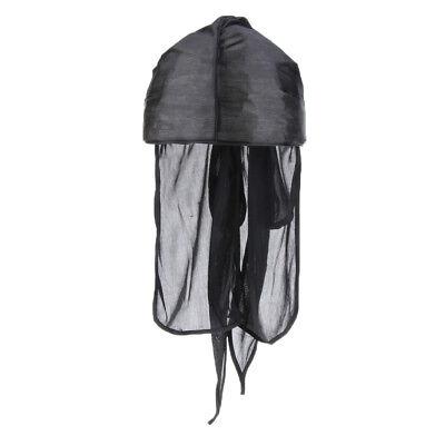 Unisex Bandana Hut seidig Durag lange Schwanz Headwrap Biker Chemo Cap