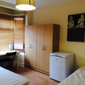 LOVELY BRIGHT TWIN/DOUBLE ROOM, 8 MNTS WALK CANNING TOWN, CANARY WHARF, STRATFORD, SPANISH SPOKEN, C
