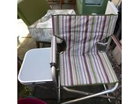 FOLDABLE PICNIC/FISHING/CHILL OUT CHAIR WITH TABLE