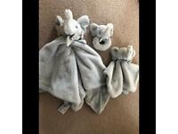 Brand new set of baby comforters and rattle