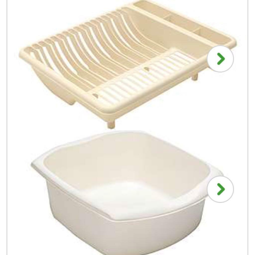 Dunelm Cream kitchen drainer and washing up bowl | in Beechdale ...
