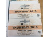 Goodwood festival of speed 2018 tickets x2 Thursday 12th July