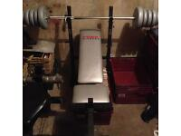 York weight bench (weights not included)