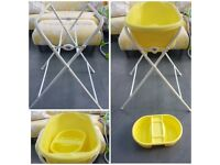 Baby Bath/Top & Tail Bowl & Folding Bath Stand