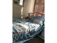 Double metal framed bed