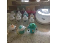 Tommee Tippee Steriliser and bottles/Cups