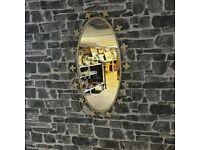 Metal Frame Oval Mirror