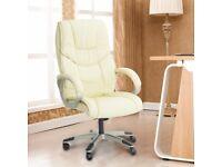 Cream Computer Executive Office Chair