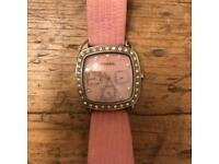 Ladies Fossil Leather Watch