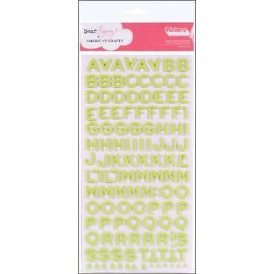 American Crafts Thickers Foam Letter Stickers, Fantastic Limeade American Crafts Thickers Foam