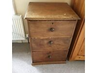 Dark Wood Chest of Drawers - Upcycle?