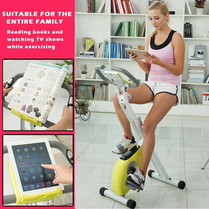 Folding Exercise Bike Magnetic Stationary Indoor Cycling Car