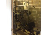 Body Max PR80 Smiths system with 165kg Olympic weights and bench.