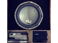 Subwoofer Fli By Vibe 1000 Watt + amplifier Mutant NW480SP + Vibe Slick Bass 400 W Car Stereo Amp
