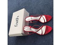 Faith Red Heels and Clutch Bag - Size 8