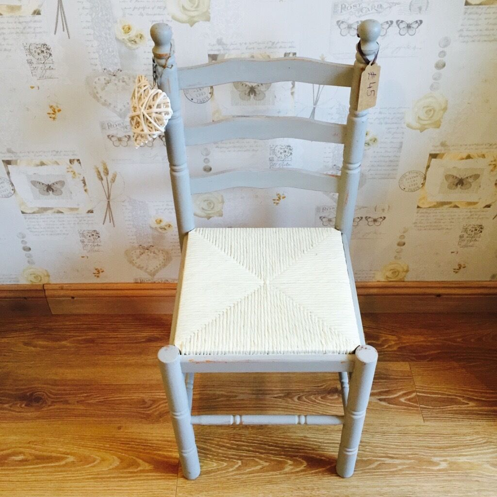 Shabby chic wooden chair