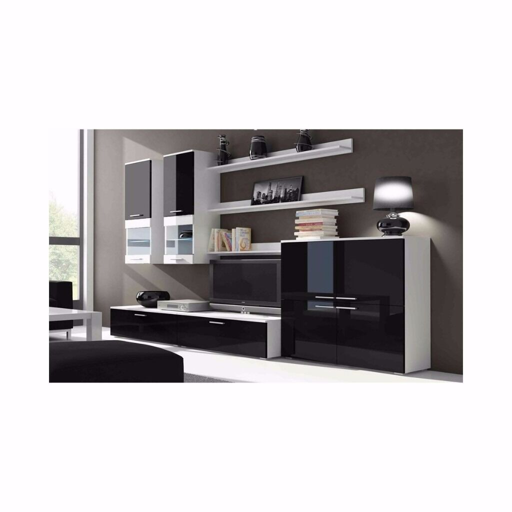 White Gloss Furniture Living Room Tv Wall Unit Beta Free Led Tv Stand Living Room