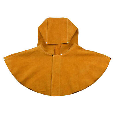 Yellow Leather Welding Shawl Hat Cap Cowhide Welding Hood Helmet Welder