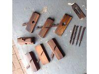 Vintage wooden rebate planes