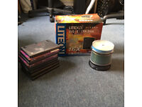 quick sale - DVD LITEON 8.5 GB rewriter with assorted blank DVD+R and CD+R discs