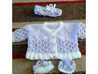 Baby girl's knitted sets