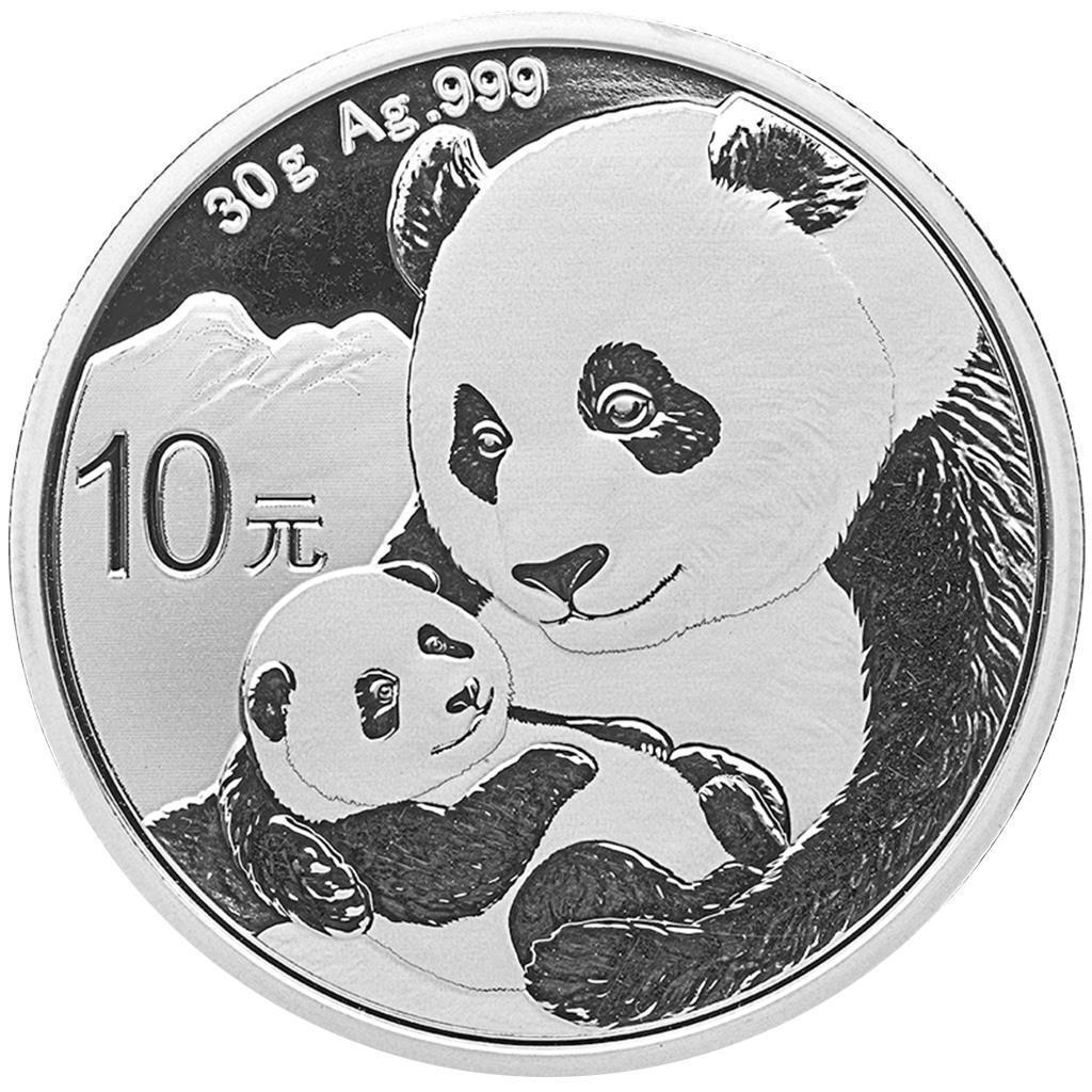 China - 10 Yuan 2019 - Panda - Anlagemünze - Silber ST