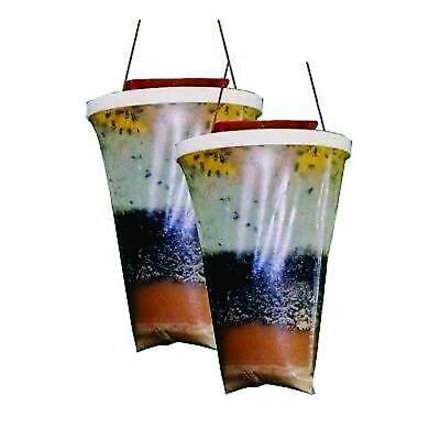 RedTop Fly Control Trap Disposable Bag Non Toxic Outdoor Traps Flytraps 2 pack