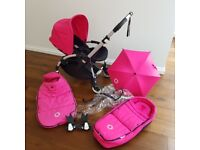 Bugaboo Bee Plus + 2013 Massive bundle. Hot Pink. Immaculate condition. Walthamstow