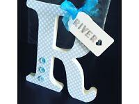 Handmade personalised frames & freestanding letters