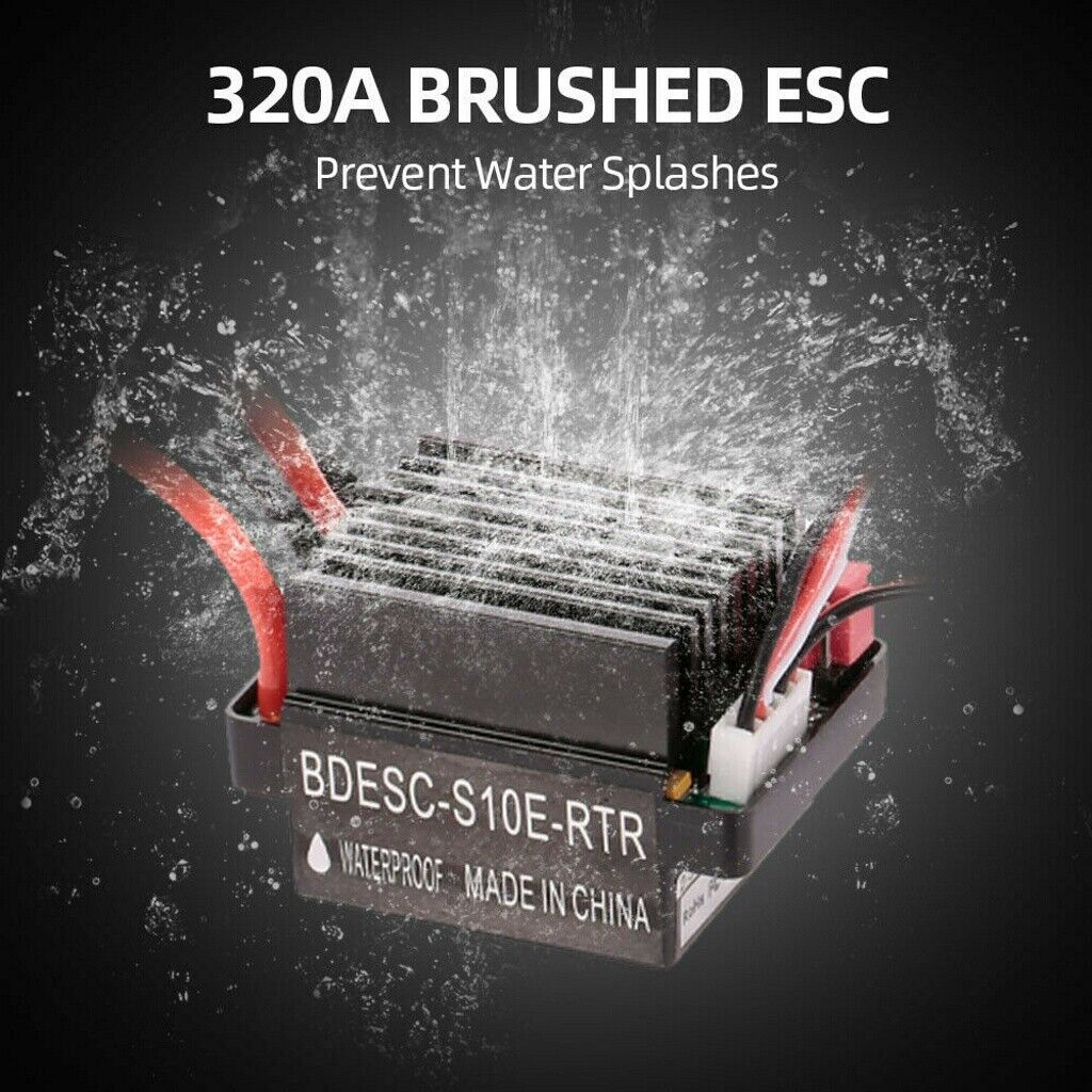 waterproof 320a brushed electronic speed controller esc