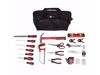 FORGE STEEL 55 PIECE TOOL KIT BRAND NEW IN STRONG TOTE SHOULDER BAG