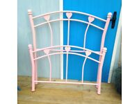 Pink girls single bed