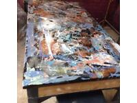Artists painted table
