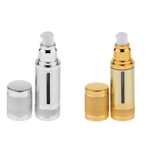 2 Airless Pump Bottle 1Oz 30mL Travel Lotion Portable Cosmet