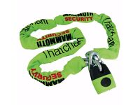 Mammoth Thatcham Approved Lock And Chain 1.8M